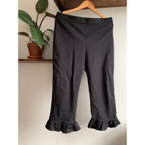 Zara Ruffle Hem Crop Pants